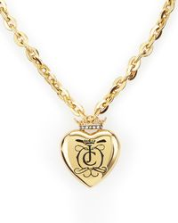 Juicy Couture | Metallic Royal Heart Necklace | Lyst