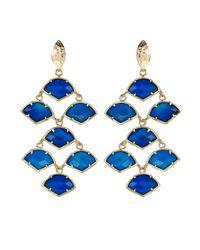 Kendra Scott - Blue Agate Chandelier Earrings - Lyst
