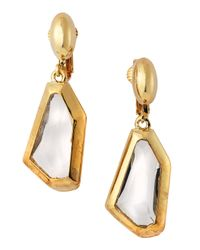 Kenneth Jay Lane | Metallic Small Drop Crystal Earrings | Lyst
