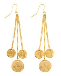 Kenneth Jay Lane | Metallic Threestrand Coin Dangle Earrings | Lyst