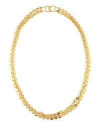 Kenneth Jay Lane | Metallic Tworow Disc Necklace | Lyst