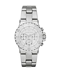 Michael Kors | Metallic Mini Bel-air Watch, Stainless Steel | Lyst
