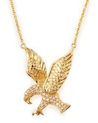Sydney Evan - Metallic Pave Eagle Necklace - Lyst