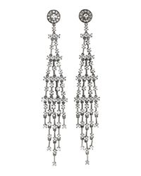 CZ by Kenneth Jay Lane - Metallic Shoulder Sweep Cubic Zirconia Earrings - Lyst