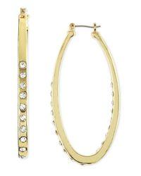 Fragments - Metallic Elongated Hoop Earrings - Lyst
