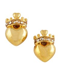 Juicy Couture | Blue Royal Heart Stud Earrings Golden | Lyst