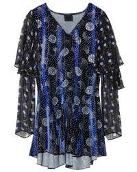Anna Sui | Blue Devorévelvet and Chiffon Tunic | Lyst