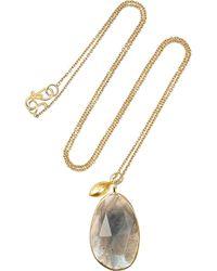 Pippa Small - Metallic 18karat Gold Labradorite Necklace - Lyst