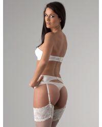 Myla | White Myla Meredith Silk Suspender | Lyst