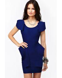 Nasty Gal | Blue Victoria Peplum Dress Cobalt | Lyst