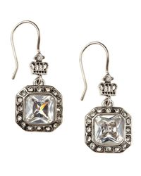 Juicy Couture - Metallic Cz Drop Earrings - Lyst