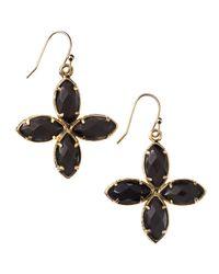 Kendra Scott | Black Fourstone Drop Earrings | Lyst