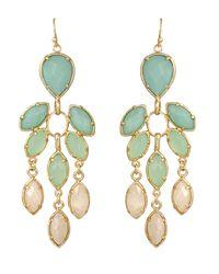 Kendra Scott | Metallic Multistone Chandelier Earrings | Lyst