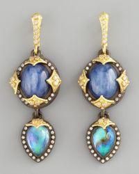 Armenta | Blue Kyanite Drop Earrings | Lyst