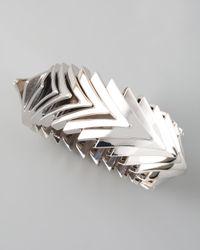 Eddie Borgo | Metallic Overlapping Triangle Bracelet | Lyst