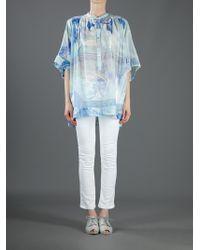 Emilio Pucci   Blue Printed Blouse   Lyst