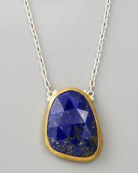 Gurhan | Blue Faceted Lapis Pendant Necklace 18l | Lyst