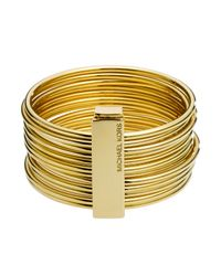Michael Kors | Metallic Golden Stackable Bangles | Lyst