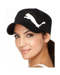 PUMA - Black Cat Logo Military Cap - Lyst