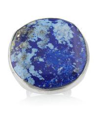 Chan Luu - Blue Oversized Silver Lapis Ring - Lyst