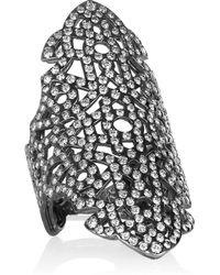Repossi - Maure 18karat Black Goldwashed Diamond Ring - Lyst