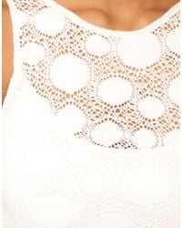 TFNC | White Tfnc Dress Lace Peplum with Open Back | Lyst