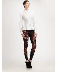 Alexander McQueen - White Cotton Poplin Godet Shirt - Lyst