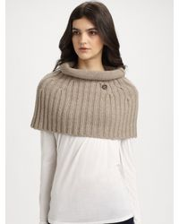 Gucci | Beige Wool Cashmere Olis Capelet | Lyst