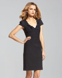 Rebecca Taylor | Black Lace-up Belt Sheath Dress | Lyst