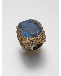Saint Laurent - Blue Shadow Broken Agate Ring - Lyst