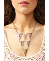 Nasty Gal - Metallic Arrow Necklace - Lyst