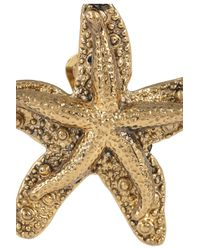 Saint Laurent - Metallic Starfish Earring - Lyst