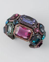 Lanvin - Metallic Tutti Frutti Crystal Cuff  - Lyst