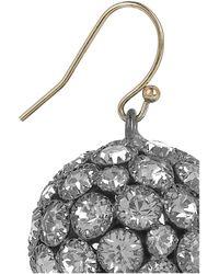 Lulu Frost - Metallic Large Deco Ball Pavé Glass Crystal Earrings - Lyst