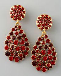 Oscar de la Renta - Metallic Crystal Teardrop Earrings - Lyst