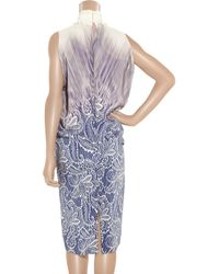 Clements Ribeiro | Purple Printed Silk Dress | Lyst