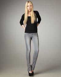 Joe's Jeans - Gray Skinny Micro Flare Alicia Jeans - Lyst
