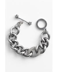 Juicy Couture | Metallic Luxe Rocks Pavé Link Bracelet | Lyst