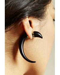 Givenchy | Black Givenchy Womens Magnetic Horn Earring | Lyst