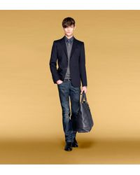 Gucci - Black Long Sleeve Classic Sweater with Embroidered Gucci Crest for Men - Lyst