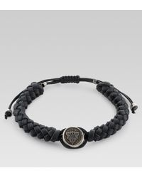 Gucci | Black Wrap Leather Bracelet - For Men for Men | Lyst
