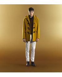 Gucci | Yellow Montgomery Jacket with Detachable Hood for Men | Lyst