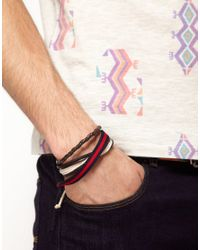River Island - Brown River Island Bracelet Pack for Men - Lyst
