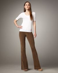 Sold Denim | Brown Boot-cut Corduroy Pants, Tan | Lyst