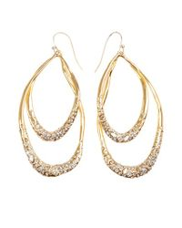 Alexis Bittar | Metallic Oval Hoop Earrings | Lyst