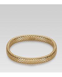 Gucci | Metallic Diamantissima Bracelet | Lyst