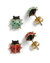 ModCloth | Blue Lord and Ladybug Earrings | Lyst