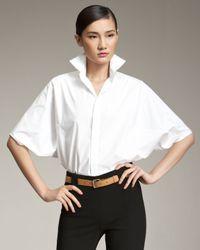 Ralph Lauren Black Label   White Kimono-sleeve Blouse   Lyst