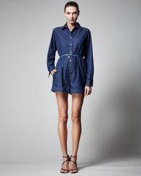 Stella McCartney - Blue Denim Jumpsuit - Lyst