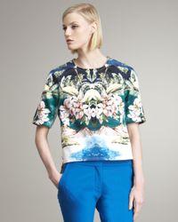 Stella McCartney | Multicolor Tropical-print Blouse | Lyst